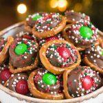 Rolo Pretzels with m&m candies