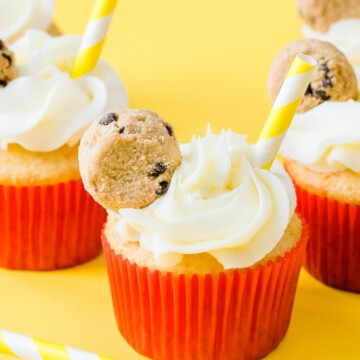cake mix cupcakes cookies and milk