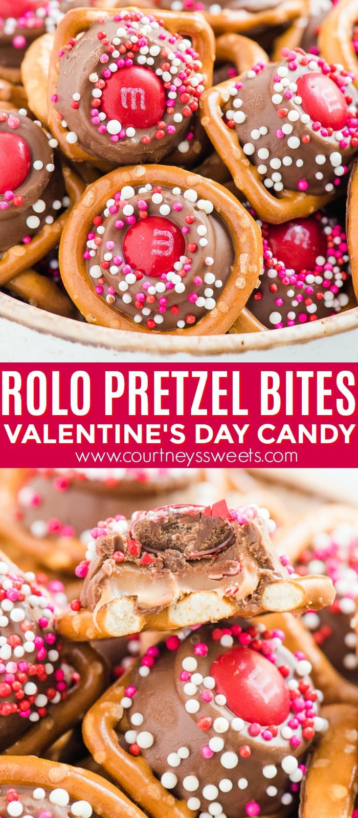 rolo pretzels bites recipe valentine's day candy edible gift