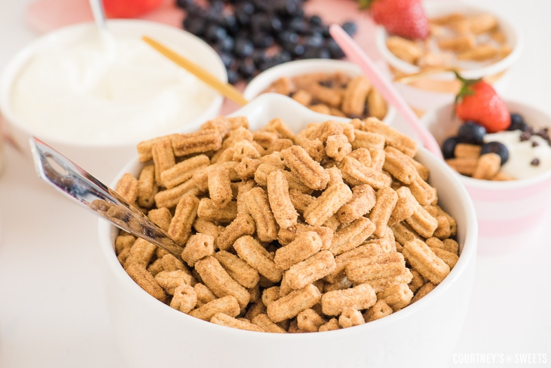 Churro Cereal Breakfast Party