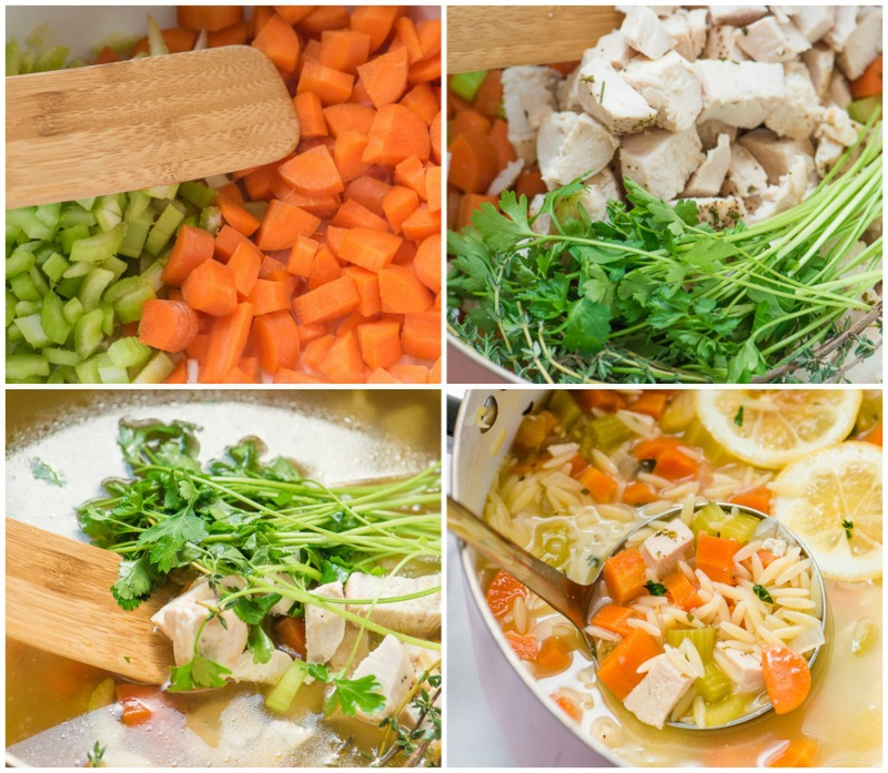 step by step photos how to make lemon chicken orzo soup
