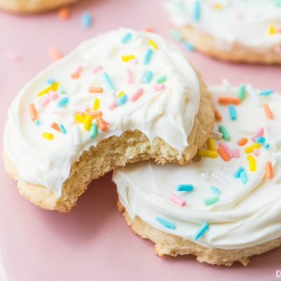 white cake mix cookie inside