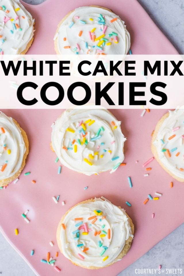 white cake mix cookies recipe using boxed cake