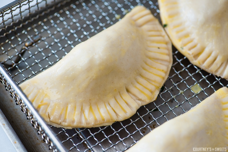 raw empanadas in air fryer basket