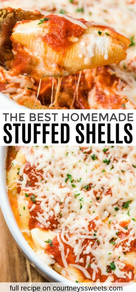 easy ricotta stuffed shells recipe + how to freeze stuffed shells easy side dish vegetarian recipe