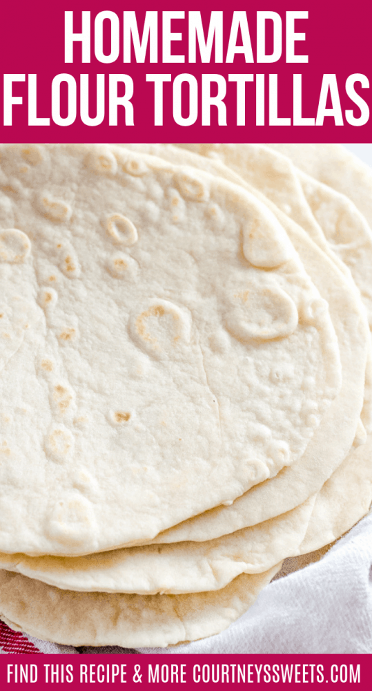 homemade flour tortilla recipe perfect for tacos, burritos, quesadillas, enchiladas, and more