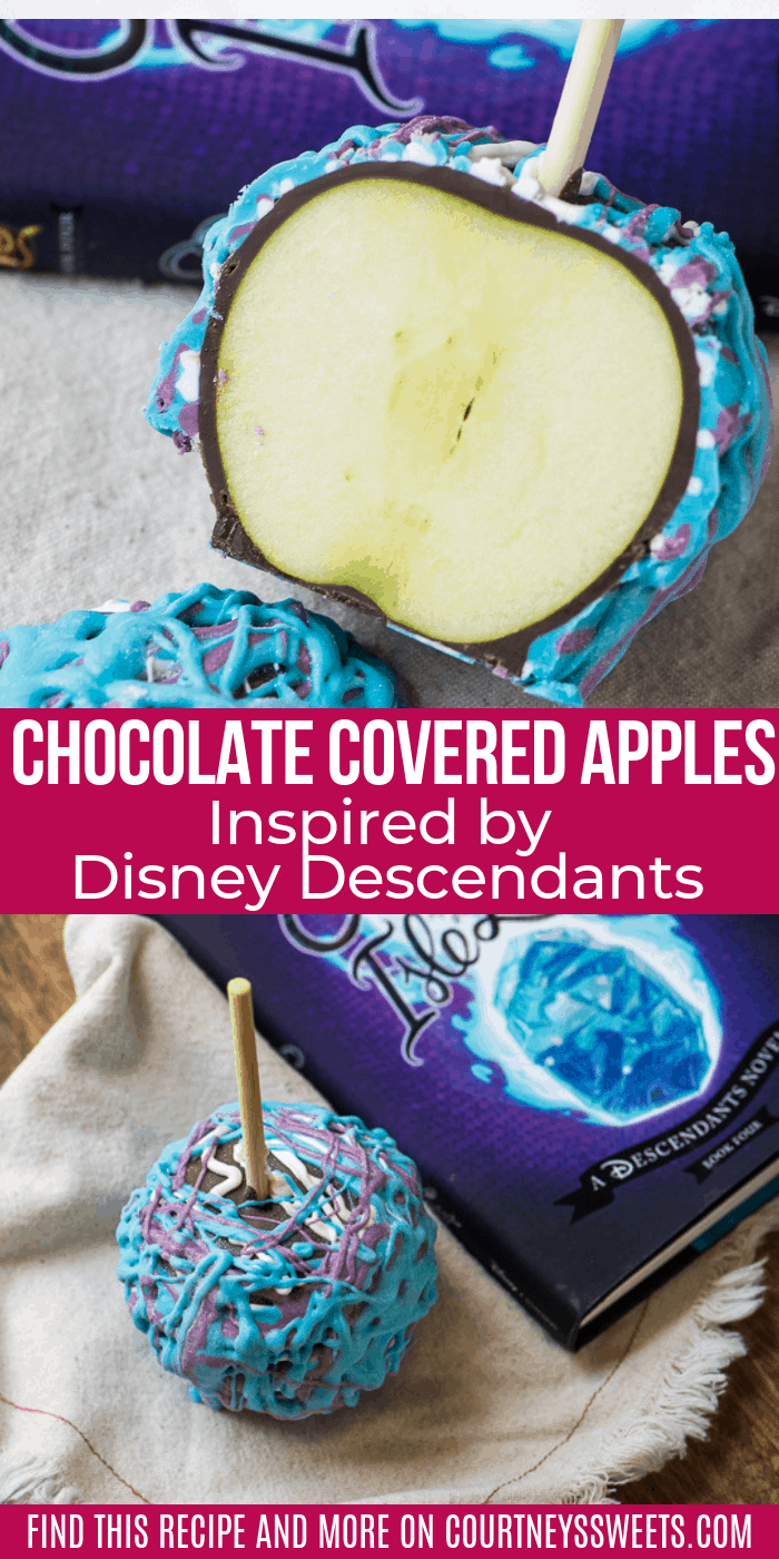 how to make Chocolate Covered Apples Inspired by Disney Descendants