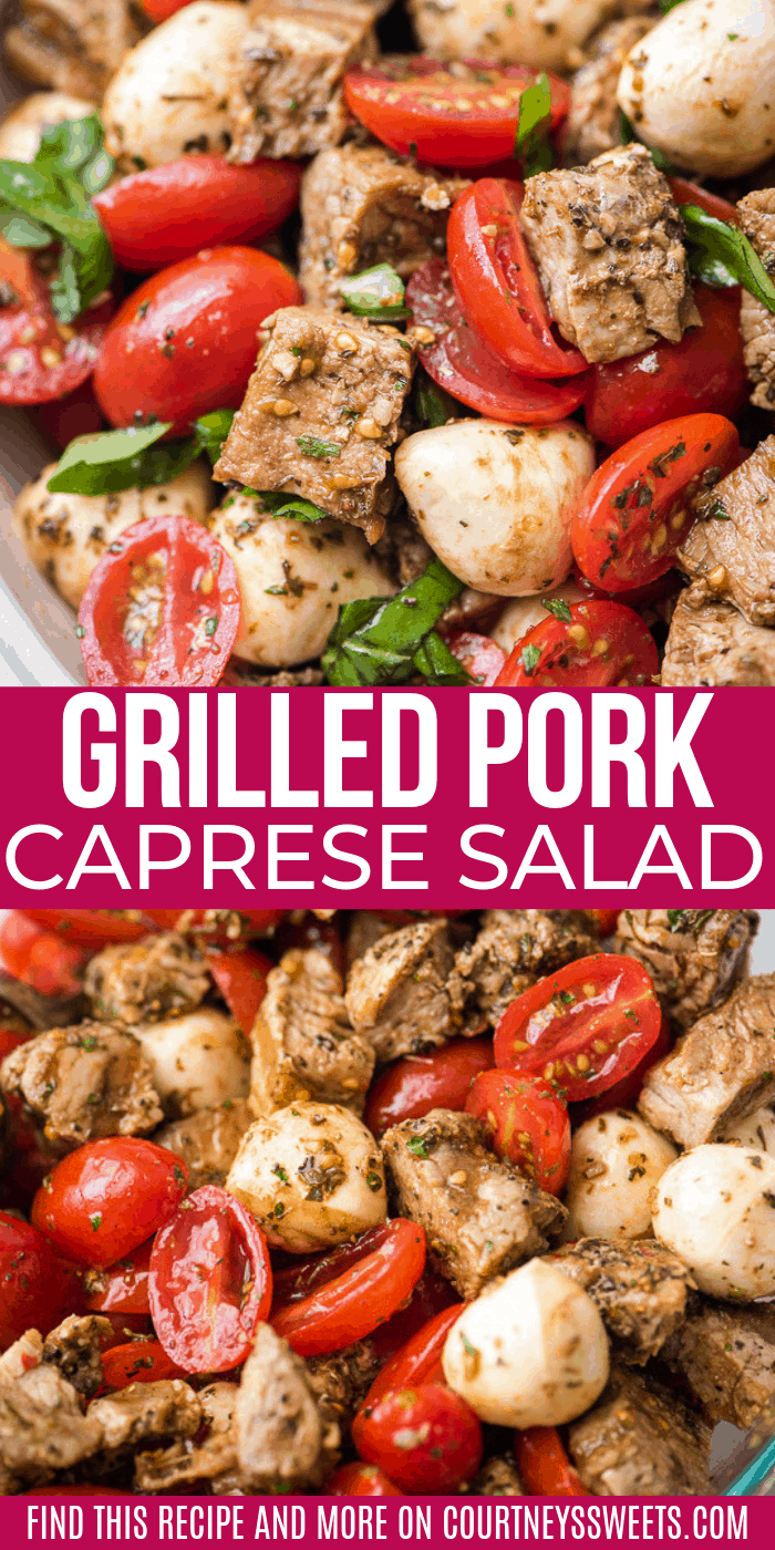 pork caprese salad easy recipe