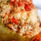 Instant Pot Stuffed Peppers - quick and easy comfort food dinner recipe made in a pressure cooker.