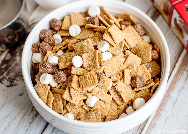 smores cereal in a bowl