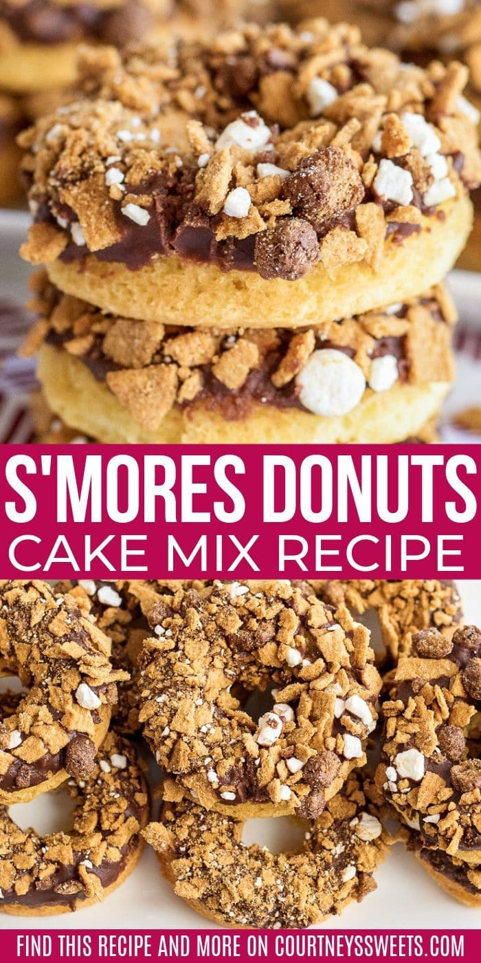 cake mix donut recipe s'more donuts easy summer dessert