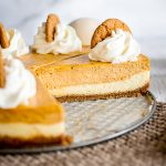 Double Layer Pumpkin Cheesecake with Gingersnap Crust