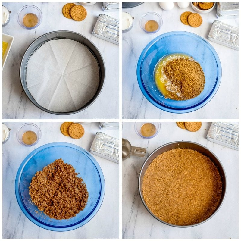 gingersnap crust step by step photos