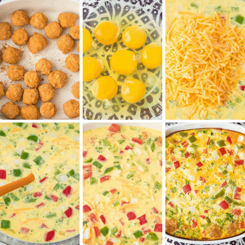tater tot casserole step by step photos