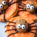 Spider Donut Chocolate Covered Apple Slices