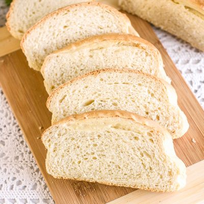 french bread sliced