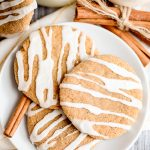 Molasses Cookies with Powdered Sugar Glaze