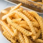Air Fryer Frozen French Fries with French Fry Seasoning