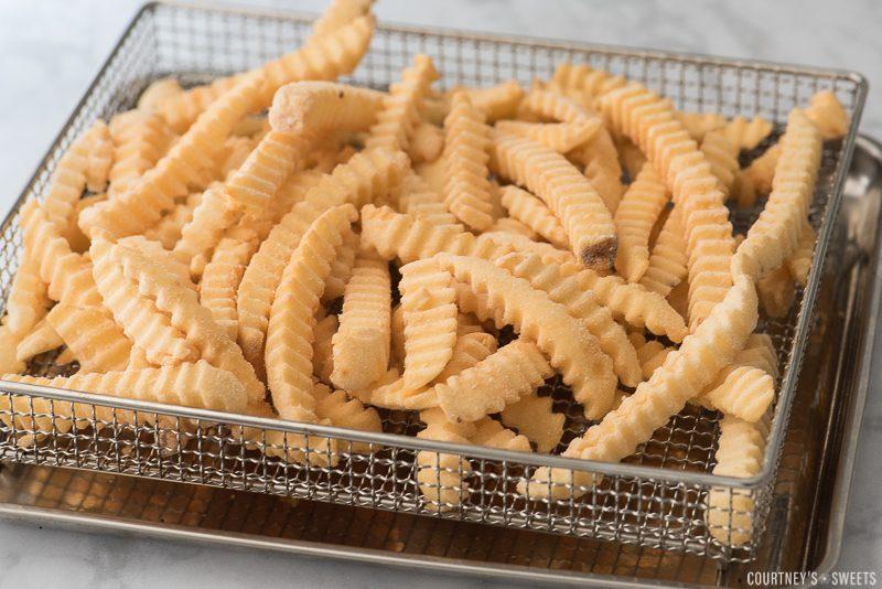 frozen french fries in air fryer basket