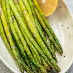 Air Fryer Asparagus with Lemon and Garlic