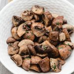 Air Fryer Mushrooms with Balsamic Vinegar
