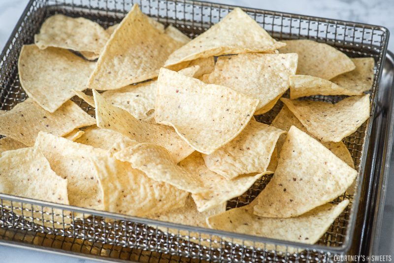 nacho chips in cuisinart air fryer rack